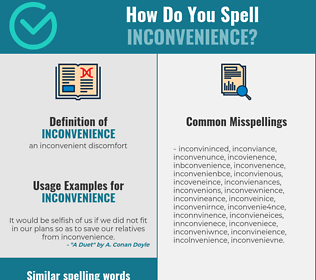 Correct spelling for inconvenience