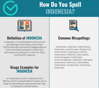 Correct spelling for indonesia
