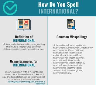Correct spelling for international