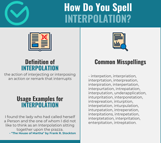 Correct spelling for interpolation