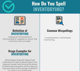 Correct spelling for inventorying