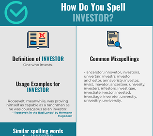 Correct spelling for investor