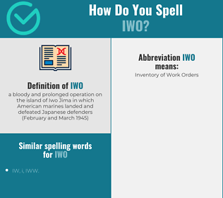 Correct spelling for iwo