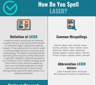 Correct spelling for laser