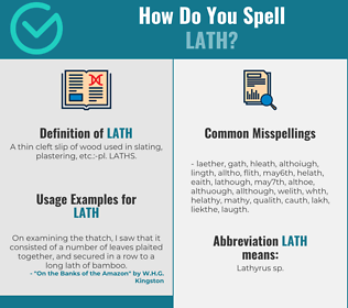 Correct spelling for lath