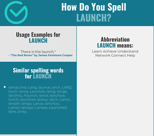 Correct spelling for launch