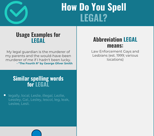 Correct spelling for legal