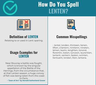 Correct spelling for lenten