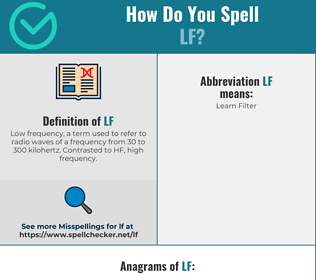 Correct spelling for lf
