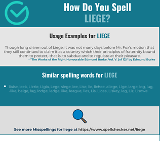 Correct spelling for liege
