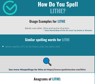 Correct spelling for lithe