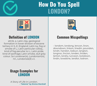 Correct spelling for london