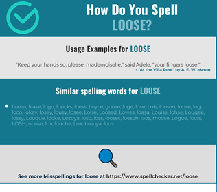 Correct spelling for loose