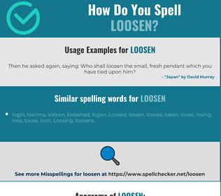 Correct spelling for loosen