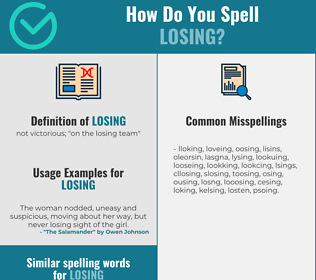 Correct spelling for losing