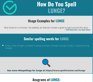 Correct spelling for lunge