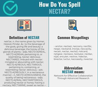Correct spelling for nectar