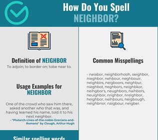 Correct spelling for neighbor