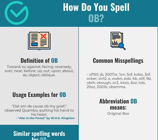 Correct spelling for ob