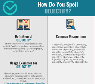 Correct spelling for objectify