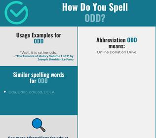 Correct spelling for odd