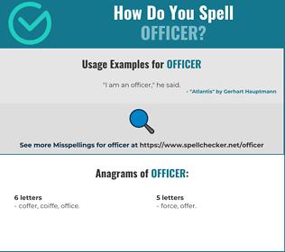 Correct spelling for officer