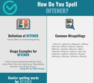 Correct spelling for oftener