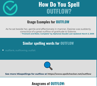 Correct spelling for outflow