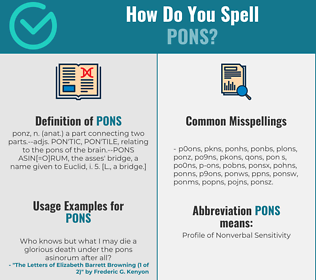 Correct spelling for pons