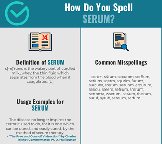 Correct spelling for serum