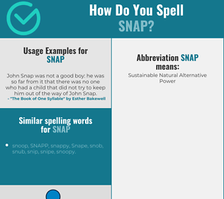 Correct spelling for snap
