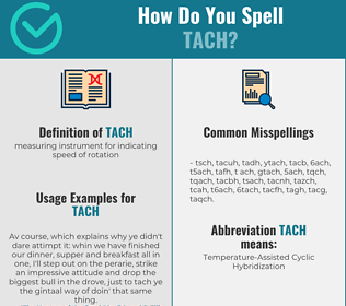 Correct spelling for tach