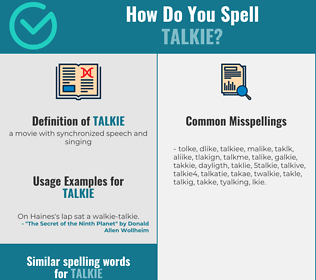 Correct spelling for talkie