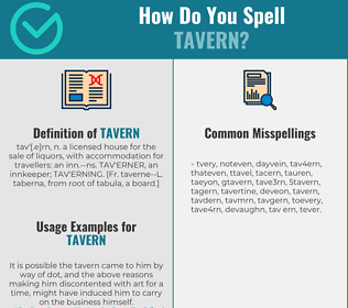 Correct spelling for tavern