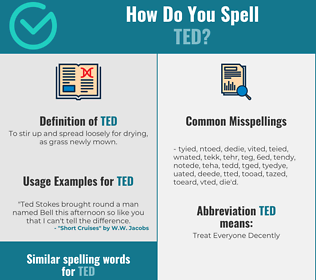 Correct spelling for ted