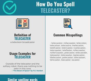 Correct spelling for telecaster