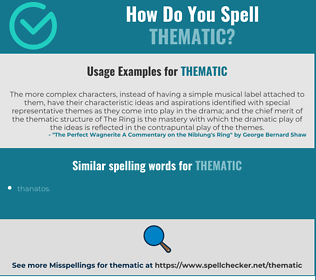 Correct spelling for thematic