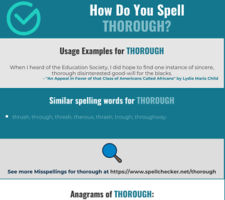 Correct spelling for thorough
