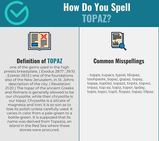 Correct spelling for topaz