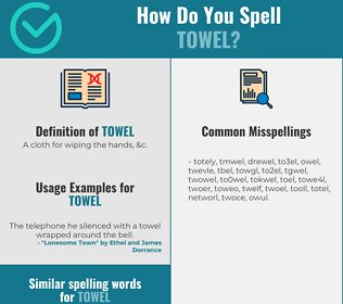 Correct spelling for towel