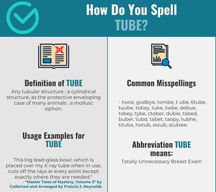 Correct spelling for tube