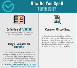 Correct spelling for turkish