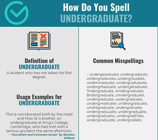 Correct spelling for undergraduate