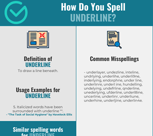 Correct spelling for underline
