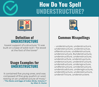 Correct spelling for understructure