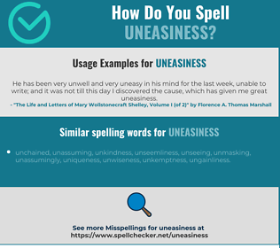 Correct spelling for uneasiness