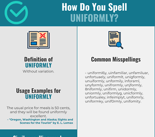 Correct spelling for uniformly