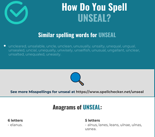Correct spelling for unseal