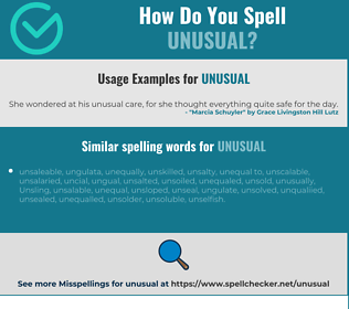 Correct spelling for unusual