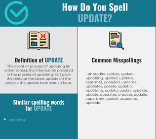 Correct spelling for update